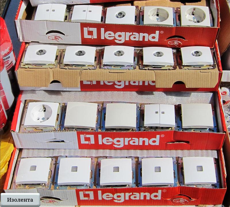 Выключатели и розетки производства «Legrand»
